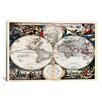 iCanvas Antique Maps Nova Totius Terrarum Orbis Tabula (1684) by J Bormeester Graphic Art on Canvas in Multi-color