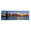 iCanvasArt Panoramic New York Skyline Cityscape Photographic Print on Canvas in Evening