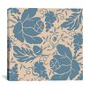 iCanvas Grapes and Buds by Mindy Sommers Graphic Art on Canvas in Blue / Taupe