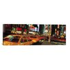 iCanvas Panoramic New York Skyline Cityscape (Times Square at Night) Photographic Print on Canvas in Multi-color