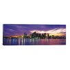 iCanvasArt Boston Panoramic Skyline Cityscape Photographic Print on Canvas in Sunset