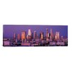 iCanvasArt Panoramic Los Angeles Skyline Cityscape Photographic Print on Canvas in Dusk