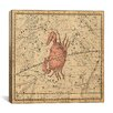 <strong>iCanvasArt</strong> Celestial Atlas - Plate 16 (Cancer) by Alexander Jamieson Graphic Art on Canvas in Beige