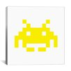 iCanvas Space Invaders Graphic Art on Canvas in Yellow