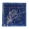 iCanvas Celestial Atlas - Plate 19 (Libra, Scorpio) by Alexander Jamieson Graphic Art on Canvas in Blue