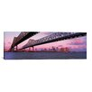 iCanvasArt Panoramic Nola Skyline Cityscape (Bridge) Photographic Print on Canvas in Sunset