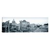 iCanvas Panoramic Ruins of an Old Building, Rome, Italy Photographic Print on Canvas in Black/White