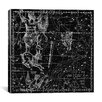 iCanvas Celestial Atlas - Plate 24 (Eridanus) by Alexander Jamieson Graphic Art on Canvas in Black