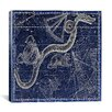 <strong>iCanvasArt</strong> Celestial Atlas - Plate 26 (Hydra, Sextans, Crater) by Alexander Jamieson Graphic Art on Canvas in Blue