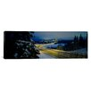 iCanvasArt Panoramic 'Winding Road Running Through a Snow Covered Landscape, Anchorage, Alaska' Photographic Print on Canvas