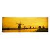 iCanvas Panoramic Windmills Netherlands Photographic Print on Canvas