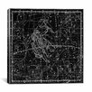 iCanvas Celestial Atlas - Plate 15 (Gemini) by Alexander Jamieson Graphic Art on Canvas in Black