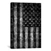 iCanvas Pat Donnelly Miss America Flag Graphic Art on Canvas in Black/White