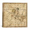 iCanvas Celestial Atlas - Plate 21 (Capricornus, Aquarius) by Alexander Jamieson Graphic Art on Canvas in Beige