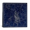 iCanvasArt Celestial Atlas - Plate 4 (Auriga) by Alexander Jamieson Graphic Art on Canvas in Blue