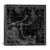 iCanvas Celestial Atlas - Plate 12 (Pegasus, Equuleus) by Alexander Jamieson Graphic Art on Canvas in Black
