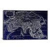 <strong>iCanvasArt</strong> Antique Map of Asia (1687) by Giovanni Giacomo De Rossi Graphic Art on Canvas in Negative