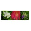 <strong>Panoramic 'White, Pink and Purple Flowers' Photographic Print on Ca...</strong> by iCanvasArt