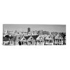 iCanvas San Francisco Panoramic Skyline Cityscape Photographic Print on Canvas in Black/White