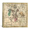 iCanvas Celestial Atlas - Plate 10 (Aquila and Antinous) by Alexander Jamieson Graphic Art on Canvas in Beige