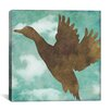 """iCanvas """"Winter Lodge (Bird)"""" Canvas Wall Art by Color Bakery"""