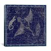 iCanvasArt Celestial Atlas - Plate 11 (Cygnus, Lacerta, Lyra) by Alexander Jamieson Graphic Art on Canvas in Blue
