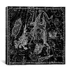 iCanvas Celestial Atlas - Plate 8 (Corona Borealis) by Alexander Jamieson Graphic Art on Canvas in Black