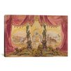iCanvasArt Decorative Art 'Stage Set with Paintings and Statues' by Robert Caney Painting Print on Canvas