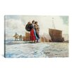 iCanvas 'The Breakwater, Cullercoats 1882' by Winslow Homer Painting Print on Canvas
