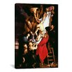 <strong>iCanvasArt</strong> 'The Descent from the Cross, Central Panel of the Triptych' by Peter Paul Rubens Painting Print on Canvas