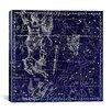 iCanvasArt Celestial Atlas - Plate 24 (Eridanus) by Alexander Jamieson Graphic Art on Canvas in Negative