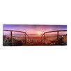 <strong>iCanvasArt</strong> Panoramic 'Staircase Leading Towards a Beach, California, Norfolk, England' Photographic Print on Canvas