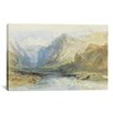 iCanvas 'The Domleschg Valley, Looking North to the Gorge at Rothenbrunnen' by Joseph William Turner Painting Print on Canvas