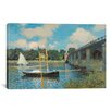 iCanvasArt 'The Bridge at Argenteuil' by Claude Monet Painting Print on Canvas