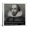 iCanvas William Shakespeare Quote Canvas Wall Art