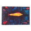 iCanvasArt 'The Golden Fish' by Paul Klee Painting Print on Canvas