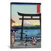 "<strong>iCanvasArt</strong> ""The Entrance Gate at Enoshima"" Canvas Wall Art by Utagawa Hiroshige l"