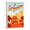 iCanvasArt 'The City by the Bay - San Francisco, California' by Anderson Design Group Vintage Advertisement on Canvas