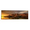 <strong>iCanvasArt</strong> Panoramic 'Willow Lake Rock Wide II' by Bob Larson Photographic Print on Canvas