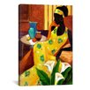 "iCanvasArt ""The Blue Vase"" Canvas Wall Art by Keith Mallett"