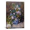 """iCanvas """"Spring Bouque (Grande Vaso Di Fiori)"""" by Pierre-Auguste Renoir Canvas Painting Print"""