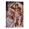 iCanvasArt 'The Creation of the Sun and the Moon 1508-1512' by Michelangelo Painting Print on Canvas