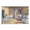 iCanvas 'The Dance Foyer at the Opera' by Edgar Degas Painting Print on Canvas
