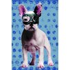 iCanvas Bulldog by Luz Graphics Graphic Art on Canvas in Blue