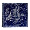 <strong>iCanvasArt</strong> Celestial Atlas - Plate 8 (Corona Borealis) by Alexander Jamieson Graphic Art on Canvas in Blue