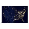 iCanvasArt The Earth at Night Canvas Wall Art