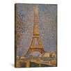 iCanvasArt 'The Eiffel Tower' by Georges Seurat Painting Print on Canvas