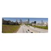 <strong>iCanvasArt</strong> Panoramic 'Vehicles Moving on the Road Leading Towards the City, Atlanta, Georgia' Photographic Print on Canvas