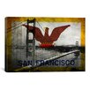 iCanvas Flags San Francisco Golden Gate Bridge Graphic Art on Canvas