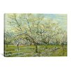 <strong>iCanvasArt</strong> 'The White Orchard' by Vincent Van Gogh Painting Print on Canvas